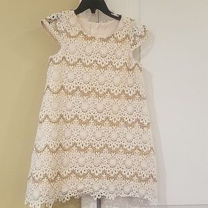 Other - Cream and Gold Lace Dress